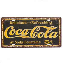 Placa Metal Vintage - Coca-Cola