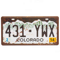 Placa Metal Vintage - Colorado