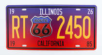 Placa Metal Vintage - Route 66 - 2450