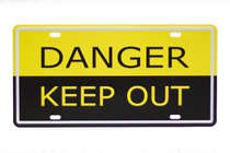 Placa Metal Vintage - Danger Keep Out