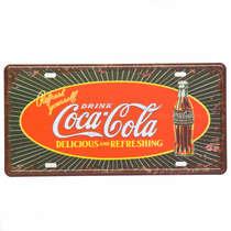 Placa Metal Vintage - Drink Coca-Cola