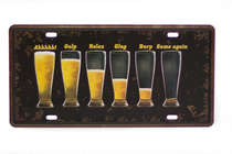 Placa Metal Vintage - Drink Fase