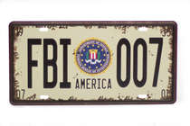 Placa Metal Vintage - FBI