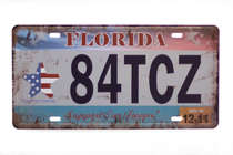 Placa Metal Vintage - Florida