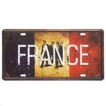 Placa Metal Vintage - France