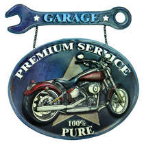 Placa Metal Vintage - Garage Premium Service