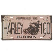Placa Metal Vintage - Harley 100