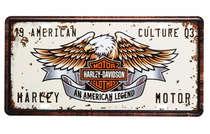 Placa Metal Vintage - Harley Motor