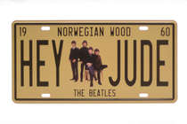 Placa Metal Vintage - Hey Jude
