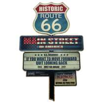 Placa Metal Vintage - Historic Route 66