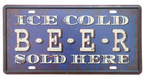 Placa Metal Vintage - Ice Cold Beer