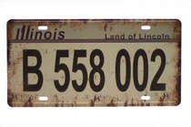 Placa Metal Vintage - Illinois