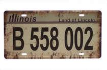 Placa Metal Vintage - Illinois