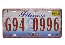 Placa Metal Vintage - Illinois G94