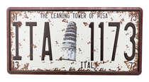 Placa Metal Vintage - Italy