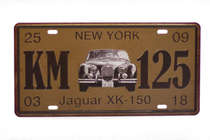 Placa Metal Vintage - Jaguar XK-150