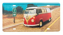 Placa Metal Vintage - Kombi California