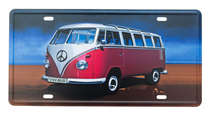Placa Metal Vintage - Kombi VW-BUS