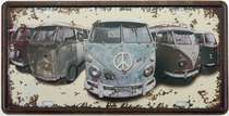 Placa Metal Vintage - Kombis