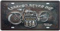 Placa Metal Vintage - Legends