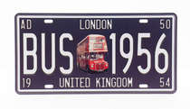 Placa Metal Vintage - London Bus 1956