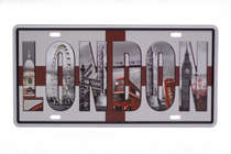 Placa Metal Vintage - London III