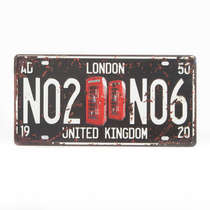 Placa Metal Vintage - London UK