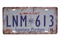 Placa Metal Vintage - Louisiana