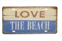 Placa Metal Vintage - Love the Beach