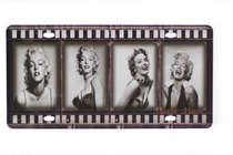 Placa Metal Vintage - Marilyn Monroe Photos