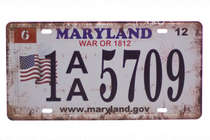 Placa Metal Vintage - Maryland