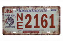 Placa Metal Vintage - Massachusetts