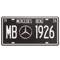 Placa Metal Vintage - Mercedes-Benz