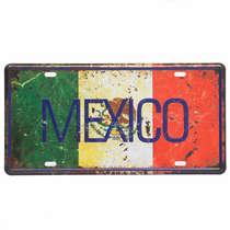 Placa Metal Vintage - Mexico