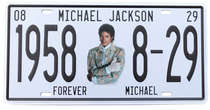 Placa Metal Vintage - Michael Jackson Forever