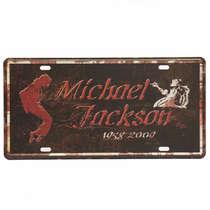Placa Metal Vintage - Michael Jackson