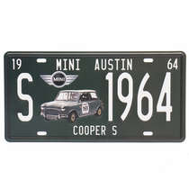 Placa Metal Vintage - Mini Cooper S