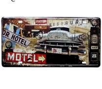 Placa Metal Vintage - Motel US 66
