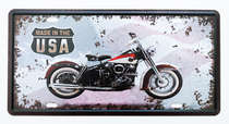 Placa Metal Vintage - Motocycle USA