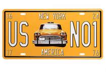 Placa Metal Vintage - NY America