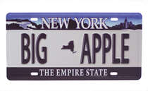 Placa Metal Vintage - New York Big Apple