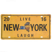 Placa Metal Vintage - New York