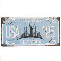 Placa Metal Vintage - New York