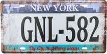 Placa Metal Vintage - New York (The City that never sleeps)