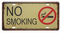 Placa Metal Vintage - No Smoking