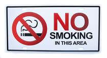 Placa Metal Vintage - No Smoking in This Area