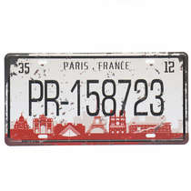 Placa Metal Vintage - Paris