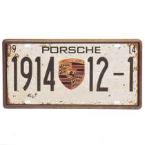 Placa Metal Vintage - Porsche