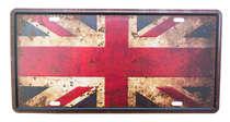 Placa Metal Vintage - Reino Unido