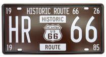 Placa Metal Vintage - Route 66 - HR